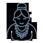Woman smiling icon