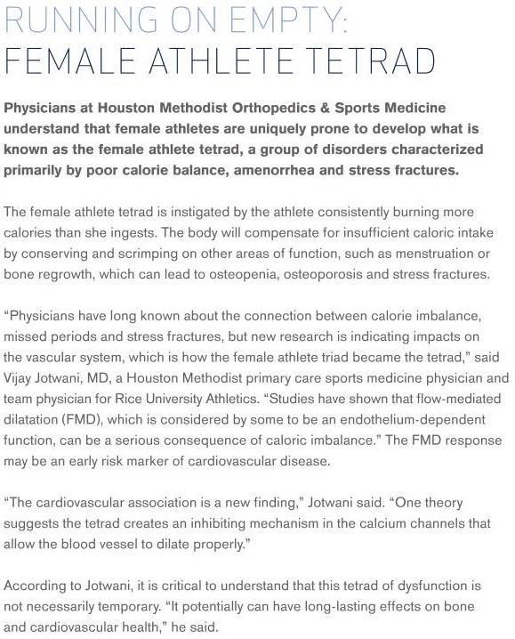 Female Running Tetrad text HMOSM
