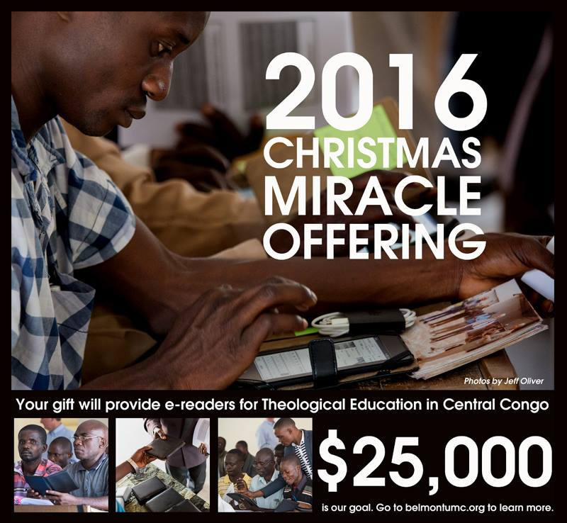 Belmont UMC's Christmas Miracle Offering Raises $25K for E-reader Project
