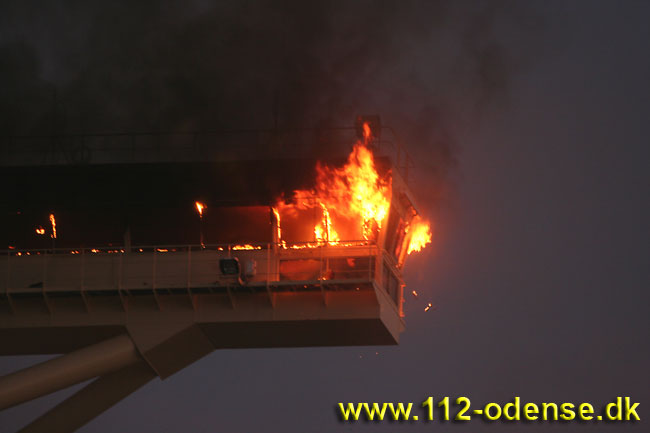 Emma Maersk Fire - Bridge Wing