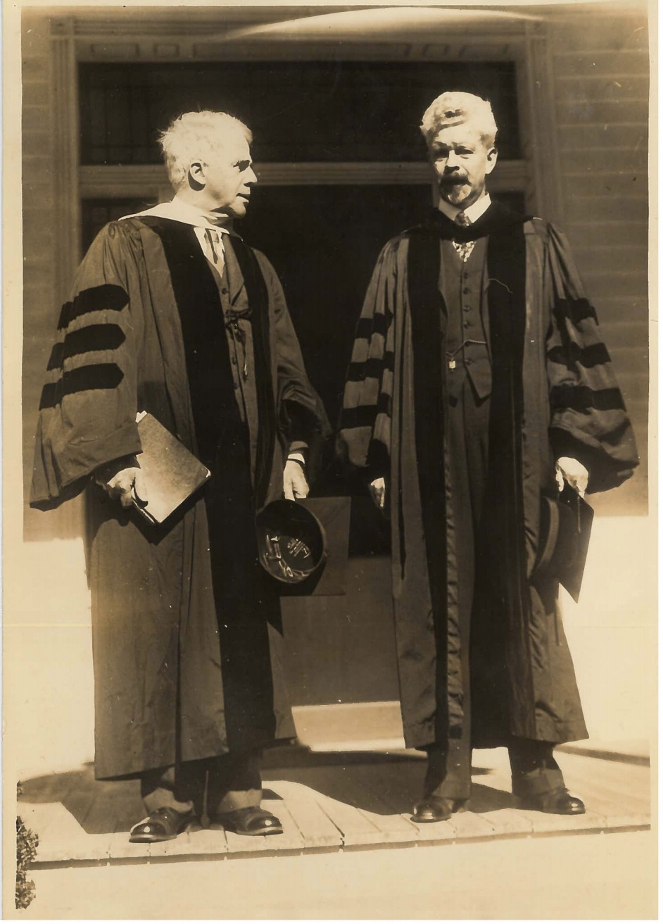 President J. Edgar Park with Robert Frost, Founders Day, October 12, 1935