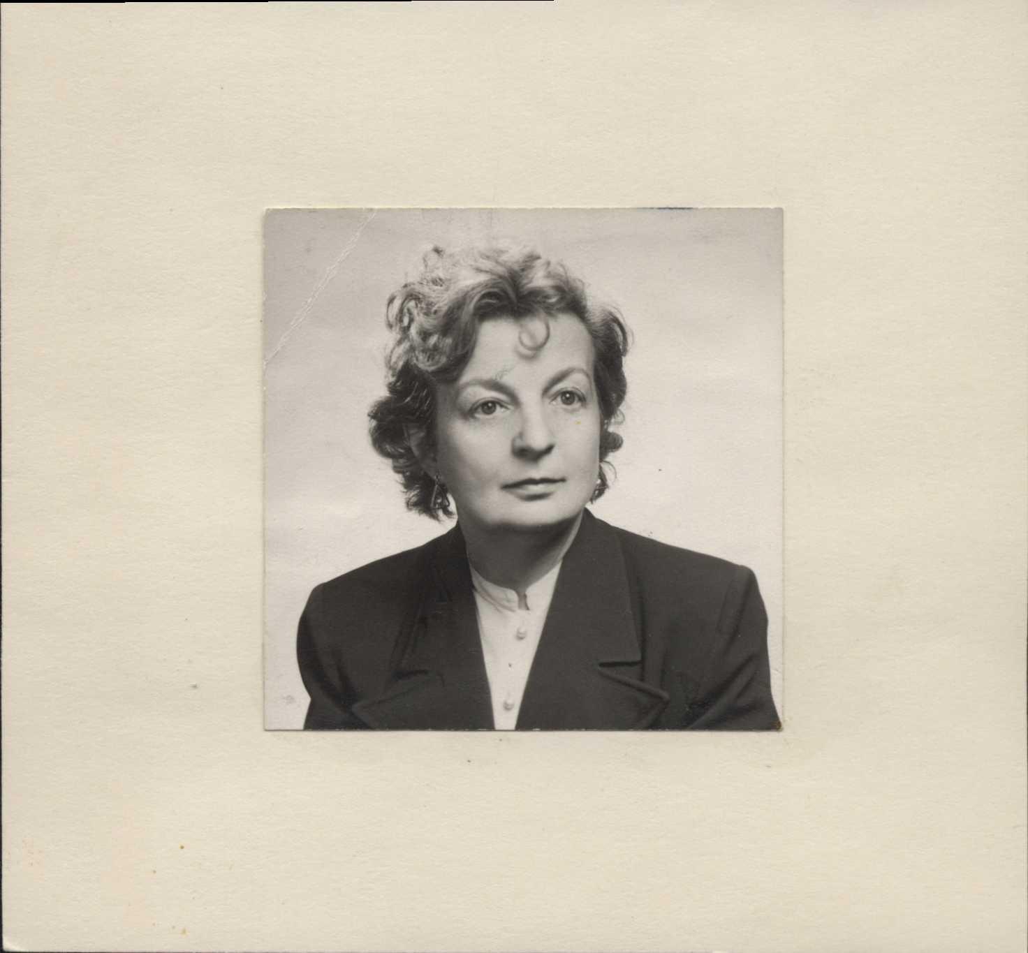 Hilda Geiringer Portrait Photo