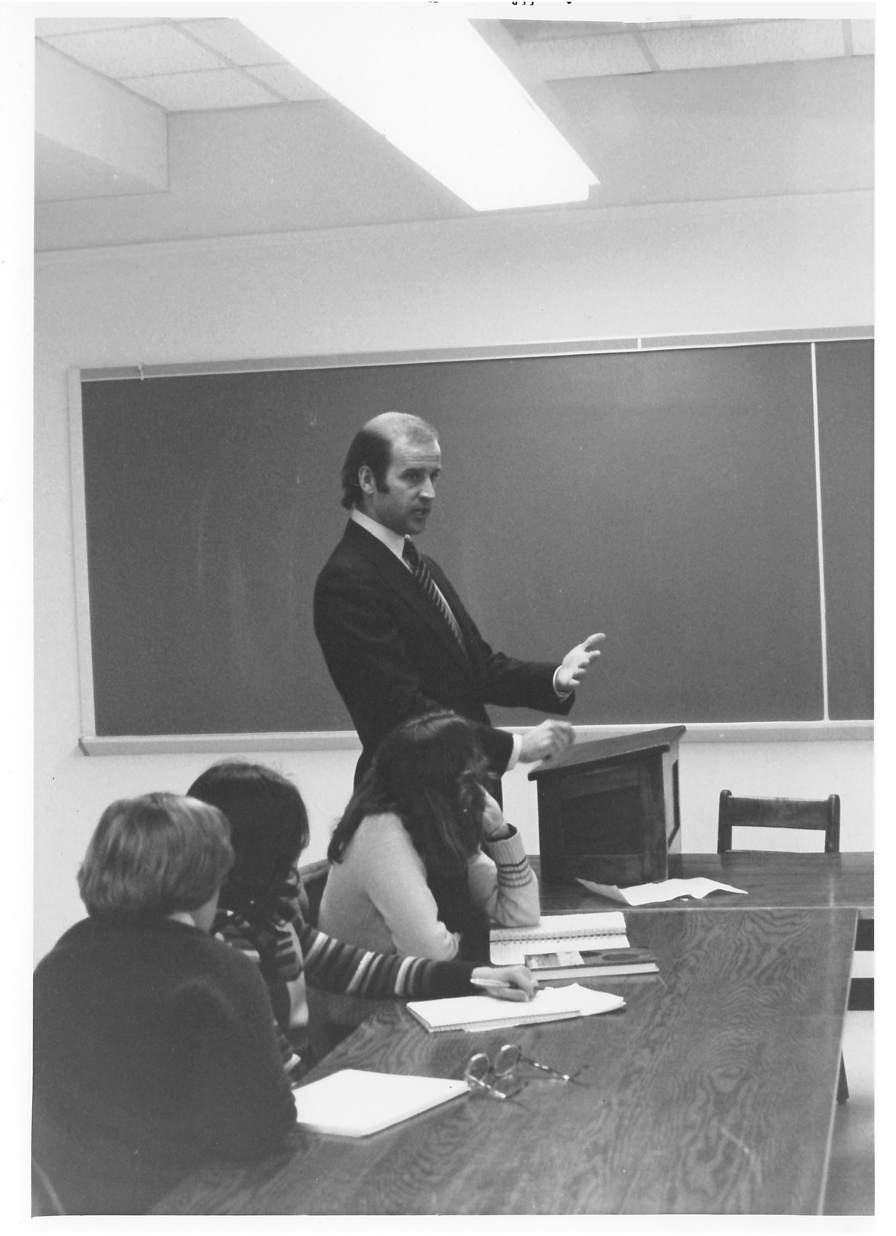 Joe Biden meeting with students