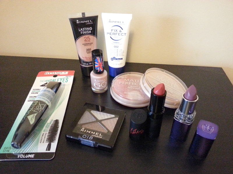 A collection of Rimmel Makeup to get the nude look.