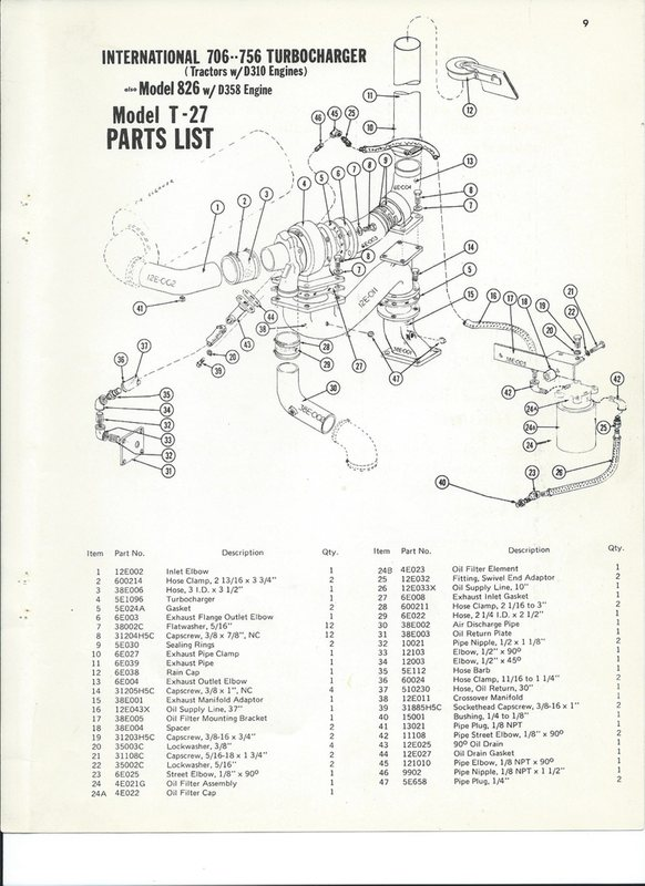 International Harvestor 756 T-27 Diagram