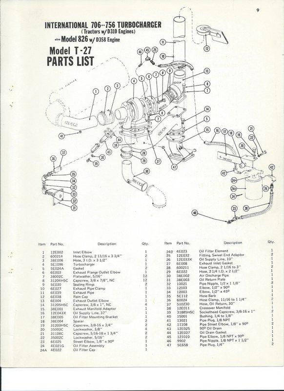 International Harvestor 826 T-27 Diagram