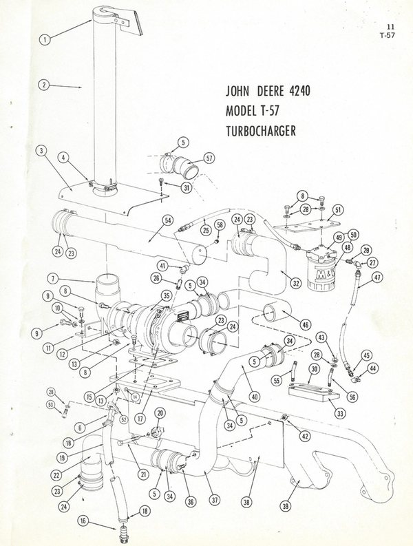 John Deere 4240 T-57 Diagram