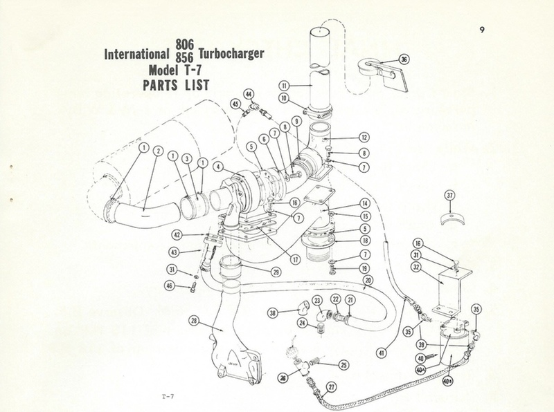 International Harvestor 856 T-7 Diagram