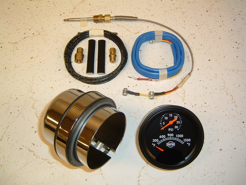 """3"""" Dia. Pyrometer/Boost Pressure Gauge w/ Chrome Mounting Cup"""