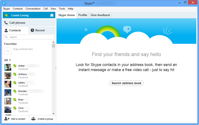 available on the market, you can call other users using Skype as well