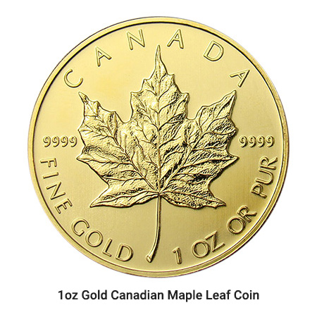 1oz Gold Canadian Maple coin