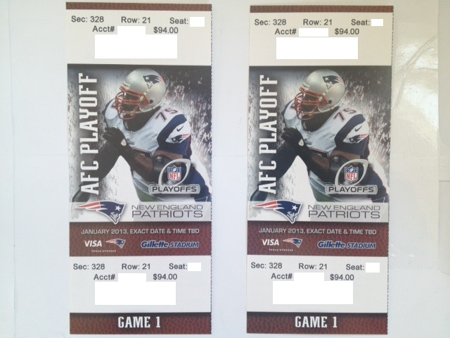 nfl playoff tickets spread for patriots game