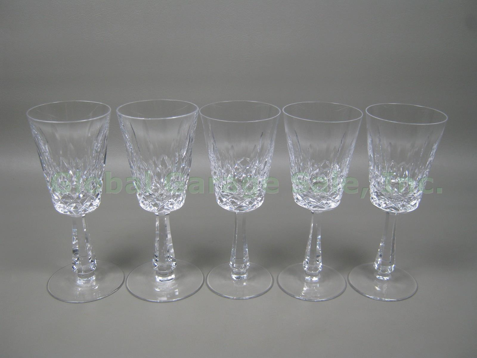 5 Vtg Galway Cut Lead Irish Crystal Red White Wine Water