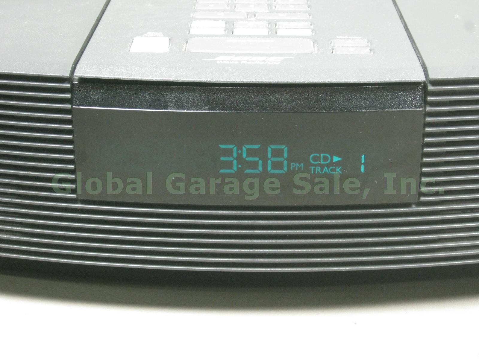 bose wave radio cd player fm am alarm clock in out graphite gray awrc1g remote ebay. Black Bedroom Furniture Sets. Home Design Ideas