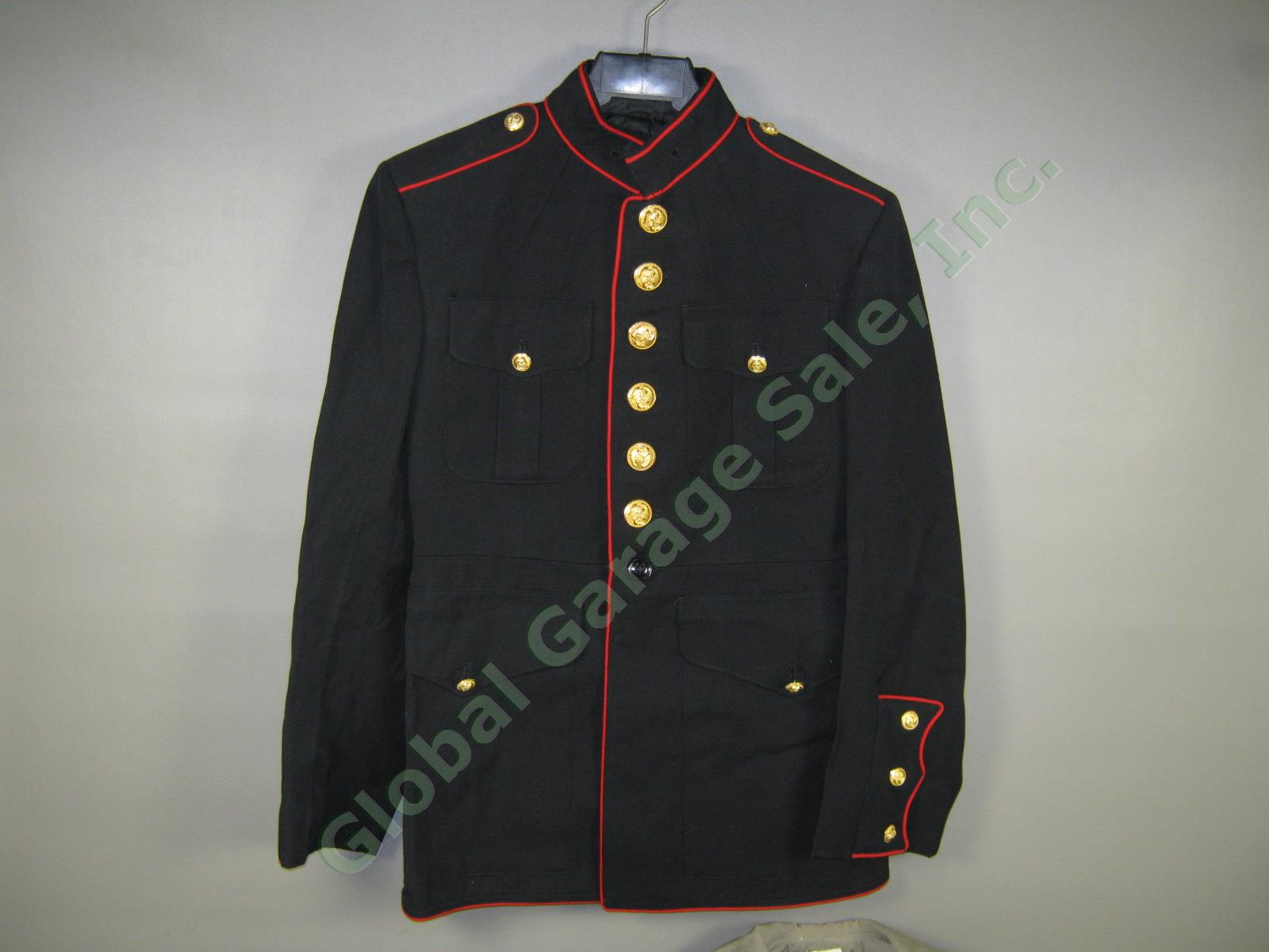 usmc marine corps dress blues trench coat belt