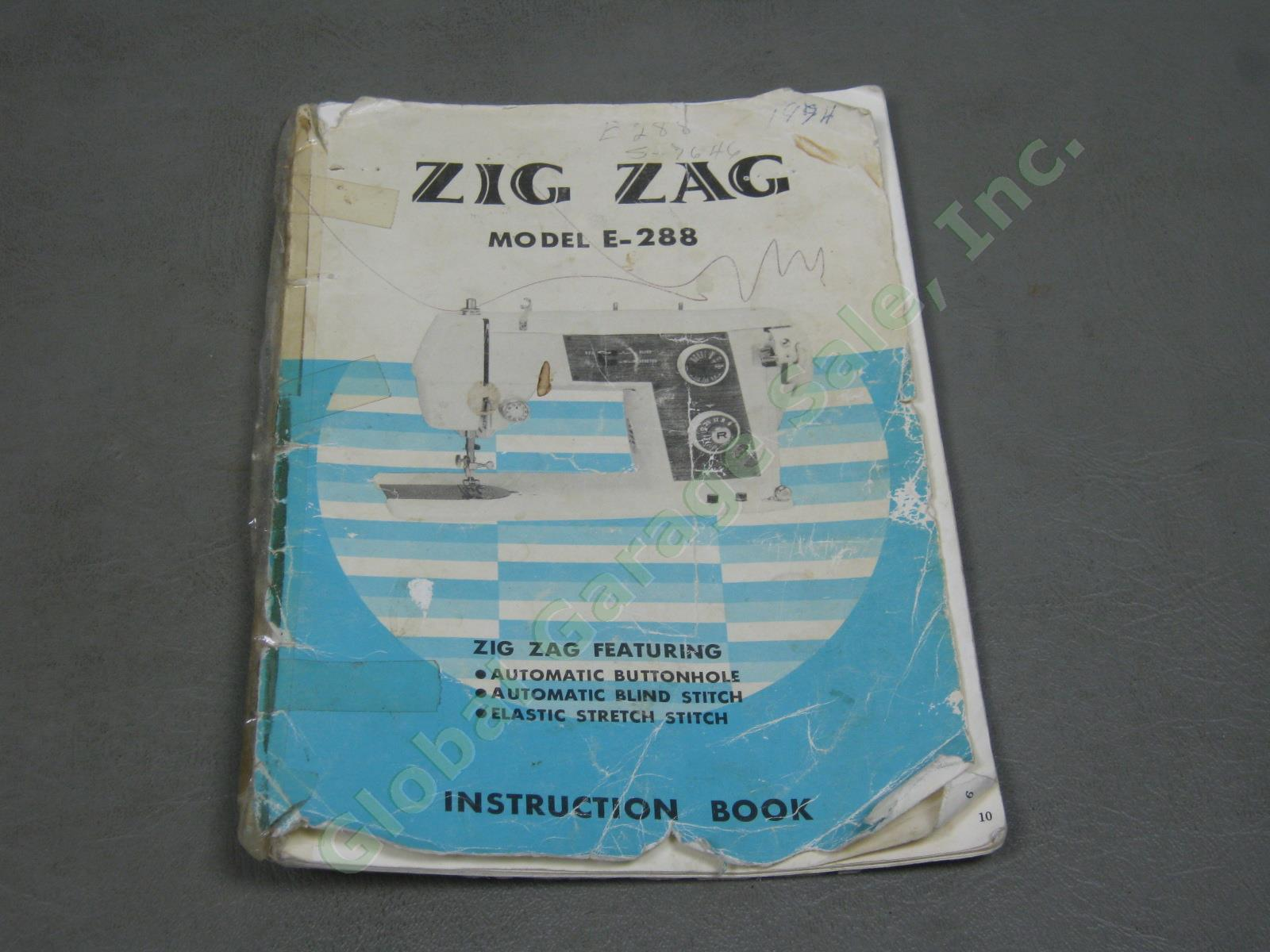 deluxe sewing machine precision built zigzag