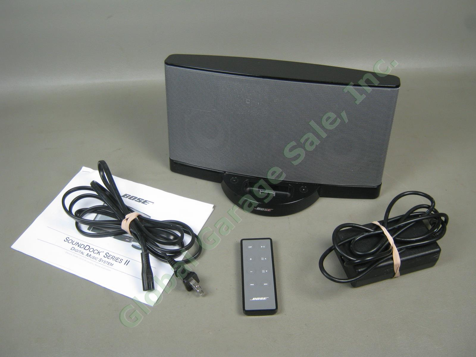 bose sounddock series ii digital music system ipod iphone docking station bundle ebay. Black Bedroom Furniture Sets. Home Design Ideas