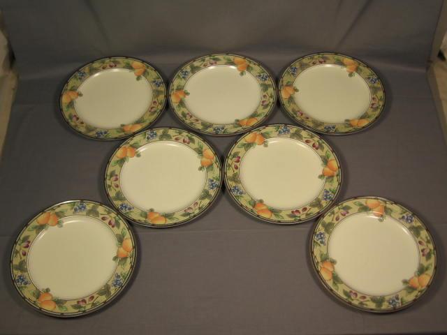 7 Mikasa Intaglio Garden Harvest Dinner Plates Set Lot