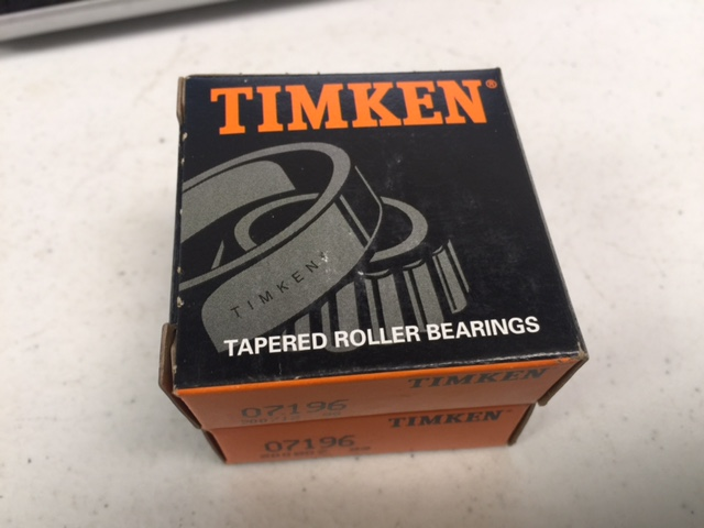 Bearing TAPERED ROLLER  (PKG 2) Timken 07196