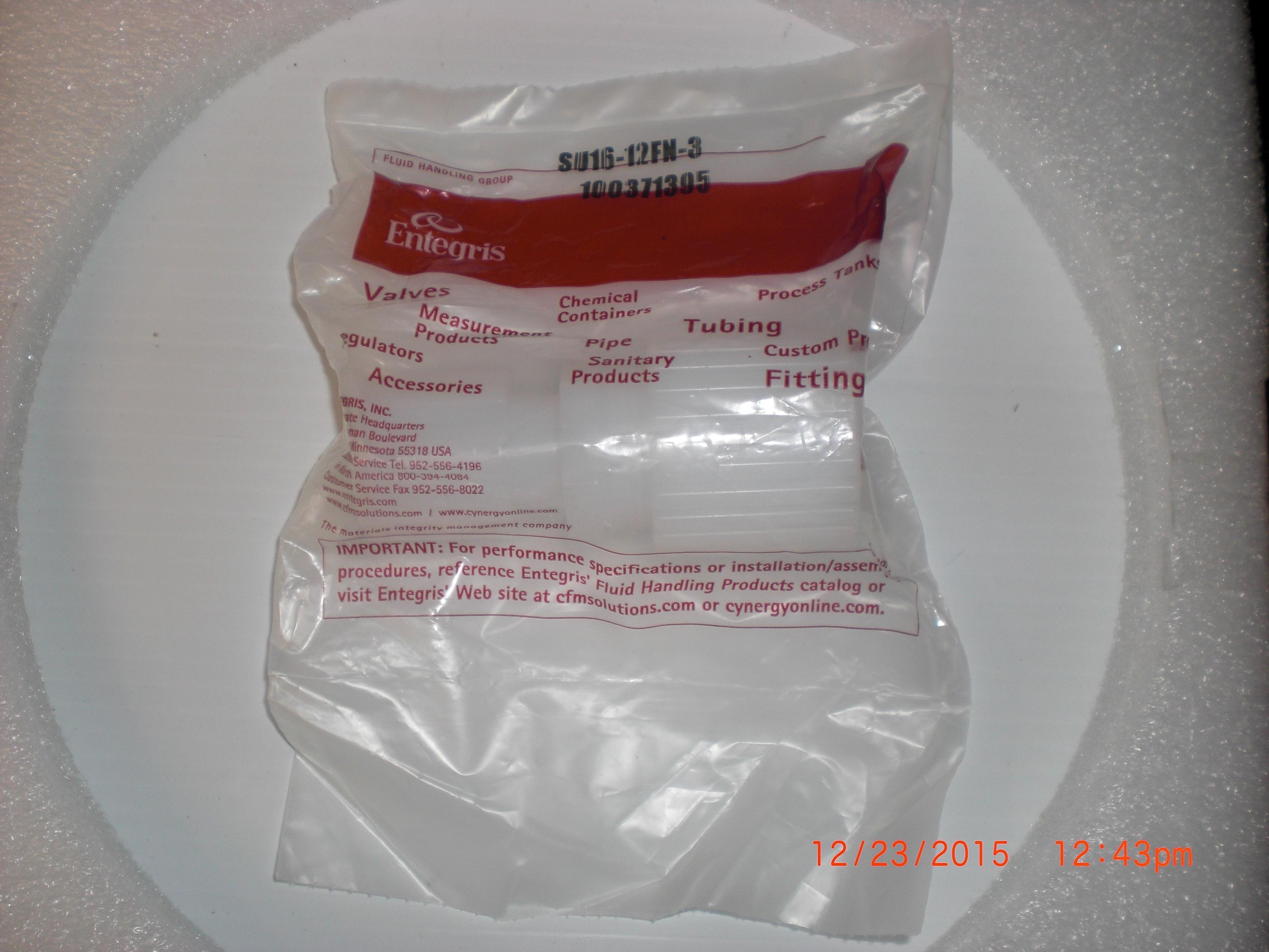 Fitting ENTEGRIS SU16-12FN-3 1 X 3/4 tube reducer Flare