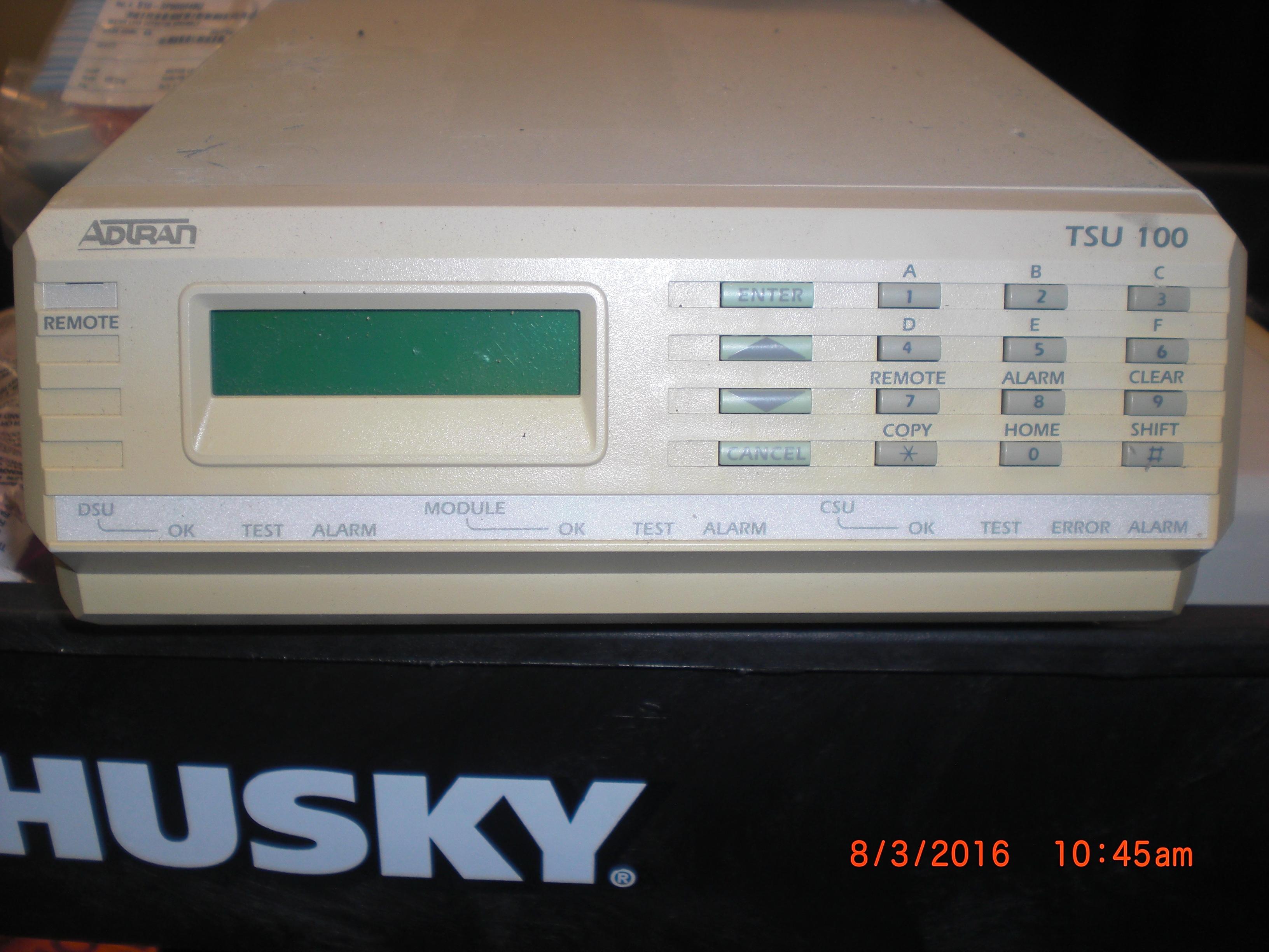 Computer Accessory ADTRON TSU 100 (TDM and VOIP ) Telecom Systems Multiplexer Mo