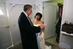 Officiant with Bride