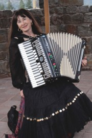 Accordionist Nada Lewis  /Folkloric Productions