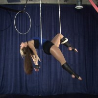 Aerial Elegance - Trapeze Artist in Detroit, Michigan