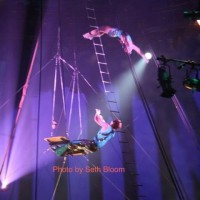 Aerial Storm - Traveling Circus in Fresno, California