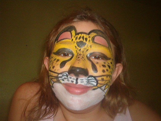 Cheetah Facepaint