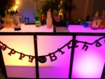 Lighted frosted Plexiglass bar