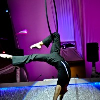 Andrew Leach- Aerial Artist - Sports Exhibition in Coral Gables, Florida