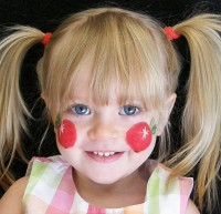 Apple Cheeks Face Painting