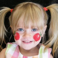 Apple Cheeks Face Painting - Temporary Tattoo Artist in Sacramento, California