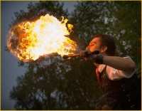 Artist Tom Hill - Fire Eater in Kenosha, Wisconsin