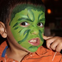 Awesome Face Painting by Jessie Bennett - Inflatable Movie Screen Rentals in Santa Fe, New Mexico