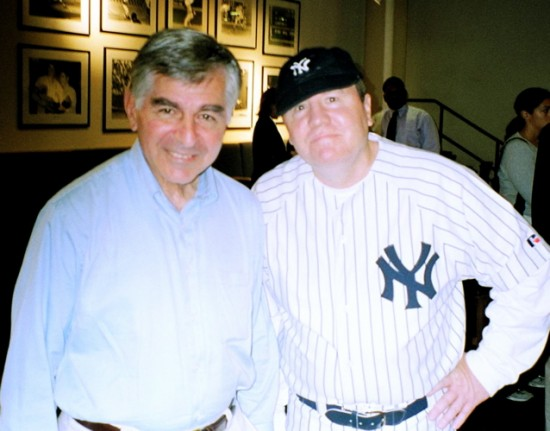 Steve Folven as Babe Ruth with Mike Dukakis