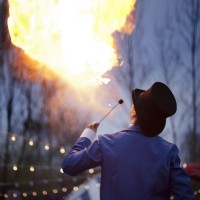 Bacchanal Promotions - Fire Dancer in Waterville, Maine