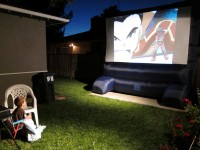 Backyard Flicks Outdoor Cinema - Inflatable Movie Screen Rentals in Stockton, California