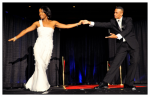 Obama Impersonator Ron Butler and Michelle Impersonator Vernetta Jenkins Dancing