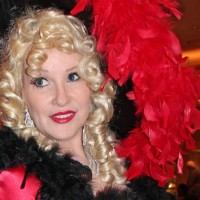 Barbara Bea as Mae West Impersonator - Singing Telegram in Shreveport, Louisiana