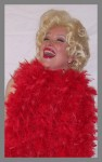 Barbara as Bette with Red Boa