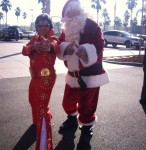 Bay Area's #1 Elvis Impersonator and Tribute Artist Rick Torres! hanging with Santa during a holiday event in Danville Ca