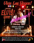 Bay Areas #1 Elvis Impersonator and Tribute Artist Rick Torres performing Viva Las Vegas!! concert during a Valentine Party at Yach Club in Richmond.