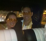 Bay Area Elvis Pink Caddy and The Bride and Groom