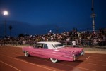 Bay Area Elvis Rick Torres &amp; Pink Caddy does a lap