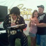 Bay Area Elvis Rick Torres wedding officate at Rascal Flatts Concert performing wedding