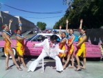 Bay Area's top Elvis Impersonator Rick Torres with Hula Girls