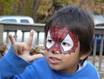 Spidey Face Paint Design