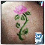 Rose Airbrush Tattoo by Big Grins Face Painting &amp; Body Art